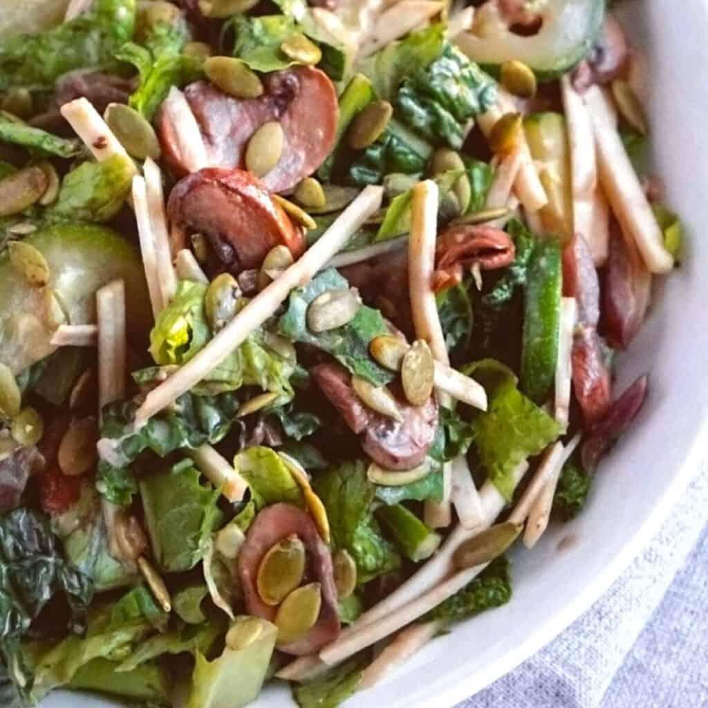 Zucchini mushroom salad.