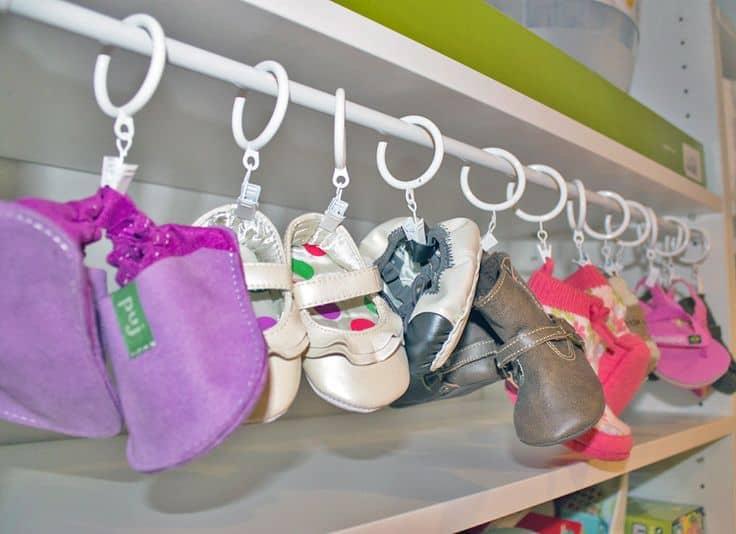 baby shoes organizing