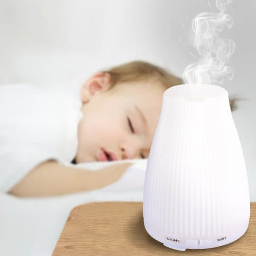 Natural remedies for cold and flu for babies and infants: diffuse essential oil for baby flu and cold symptoms