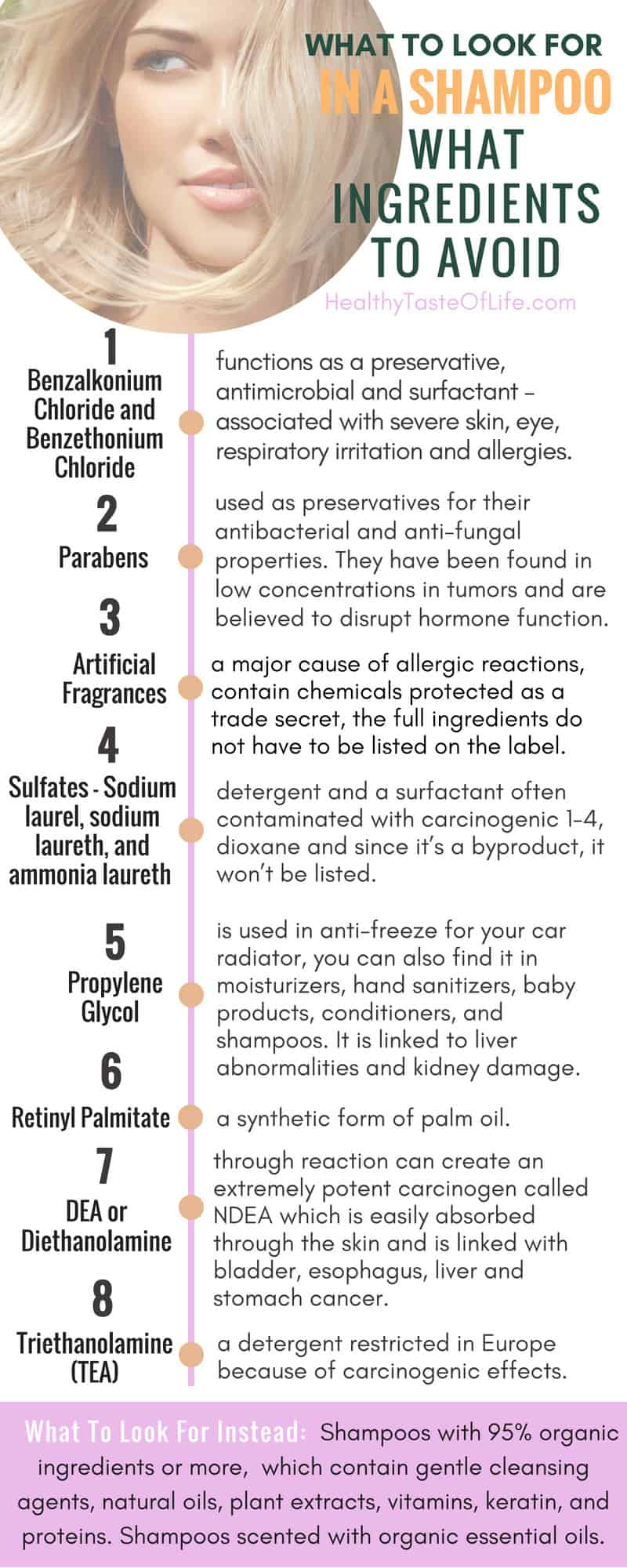 What Ingredients To Avoid in a shampoo