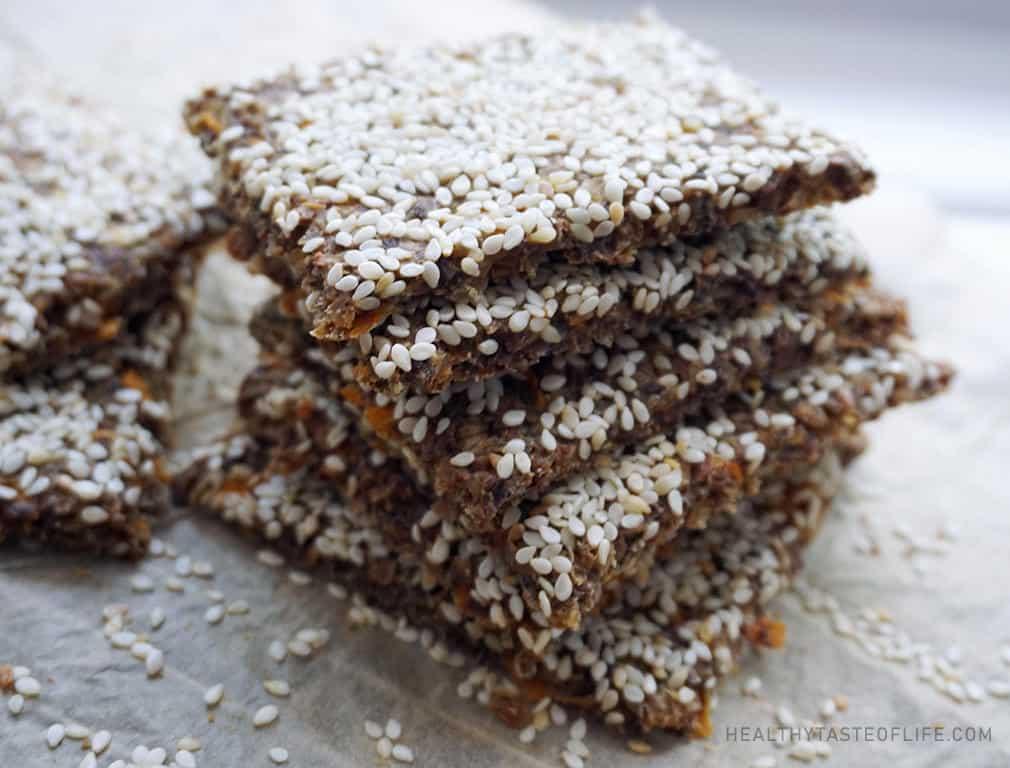 Buckwheat crackers / crisps (Vegan Gluten Free Snack)