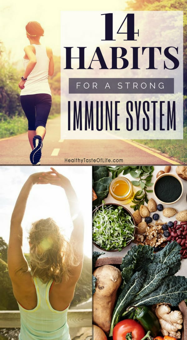 14 Habits To Improve Immune System Against Allergies. How allergies and the immune system are connected, how to balance the immune system naturally plus the best supplements and herbs for immune system boosting. #immunesystem #allergy #allergyrelief #allergyremedies #immunesystemboost