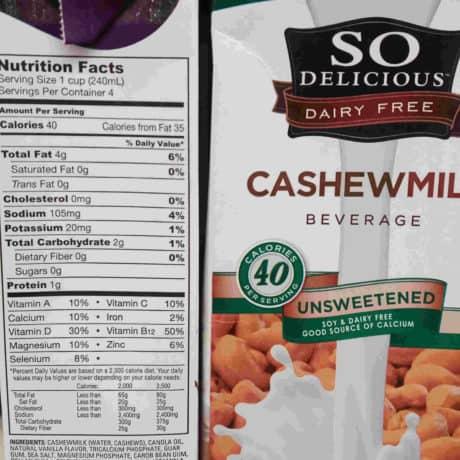 So delicious cashew milk