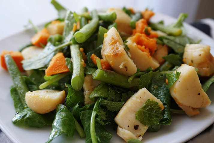 Scallop And Roasted Vegetable Salad