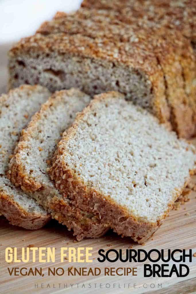 Gluten Free Sourdough Bread Recipe (Vegan Yeast Free, Dairy Free Egg Free)