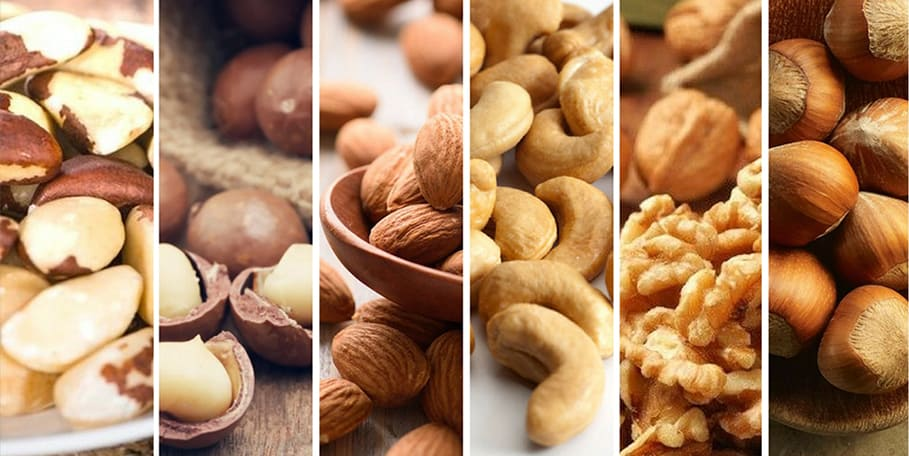 Healing through diet and nutrition: clean safe nuts