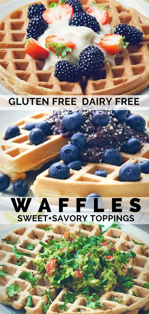 Glute free dairy free waffles from scratch.