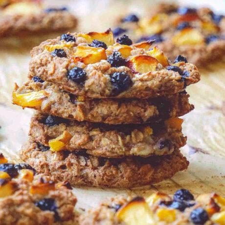 gluten free vegan oatmeal cookies recipe peach and blueberry