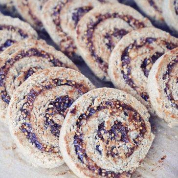 Amaranth + Fig Swirl Cookies - Gluten Free, Dairy Free, Eggless (Vegan), Sugar Free