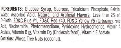Bad quality supplement label