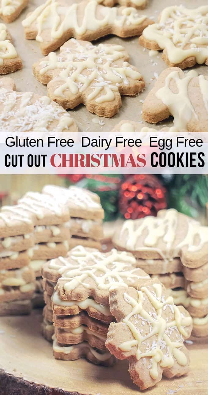 Gluten Free Dairy Free Egg Free Cut Out Christmas Cookies Made