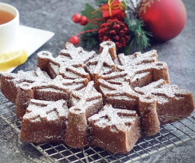 Holiday Bundt Snowflake Cake - Gluten Free, Dairy Free Recipe