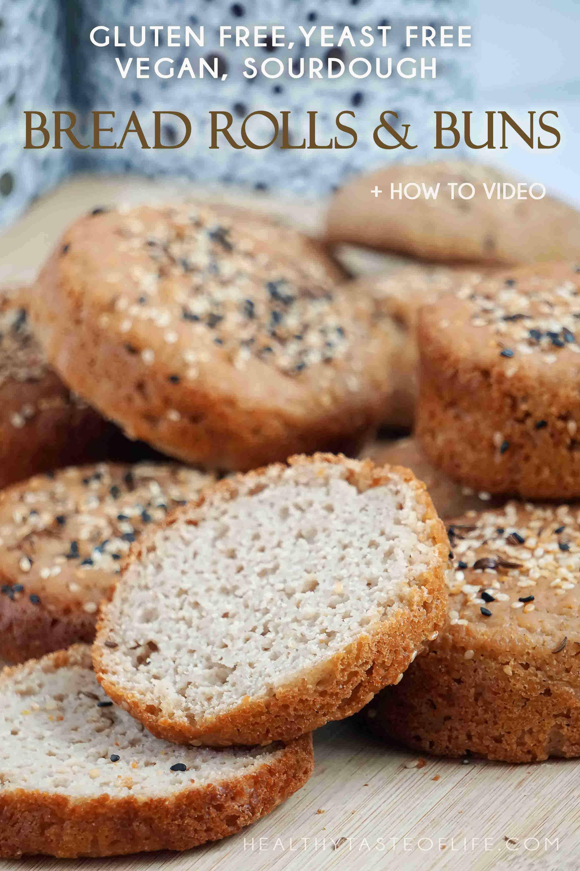 Vegan Gluten Free Hamburger Buns, Yeast Free Recipe