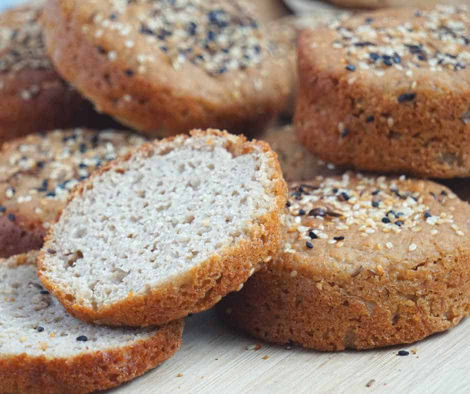 Learn how to make gluten free sourdough bread rolls and buns that are completely dairy free, egg free, yeast free, xanthan gum free, vegan, soy and nut free. With a crusty exterior and soft interior.