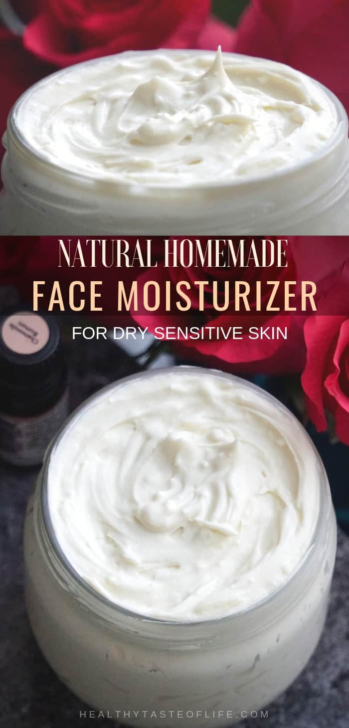 Looking for a Natural DIY Face Moisturizer for you dry skin? This recipe will surely help your dry sensitive skin to heal. Making this natural homemade face moisturizer is pretty simple, it has only the best ingredients for maximum hydration, gentle enough for red dry skin including eczema and rosacea. It will make you skin soft and glowing during winter time!