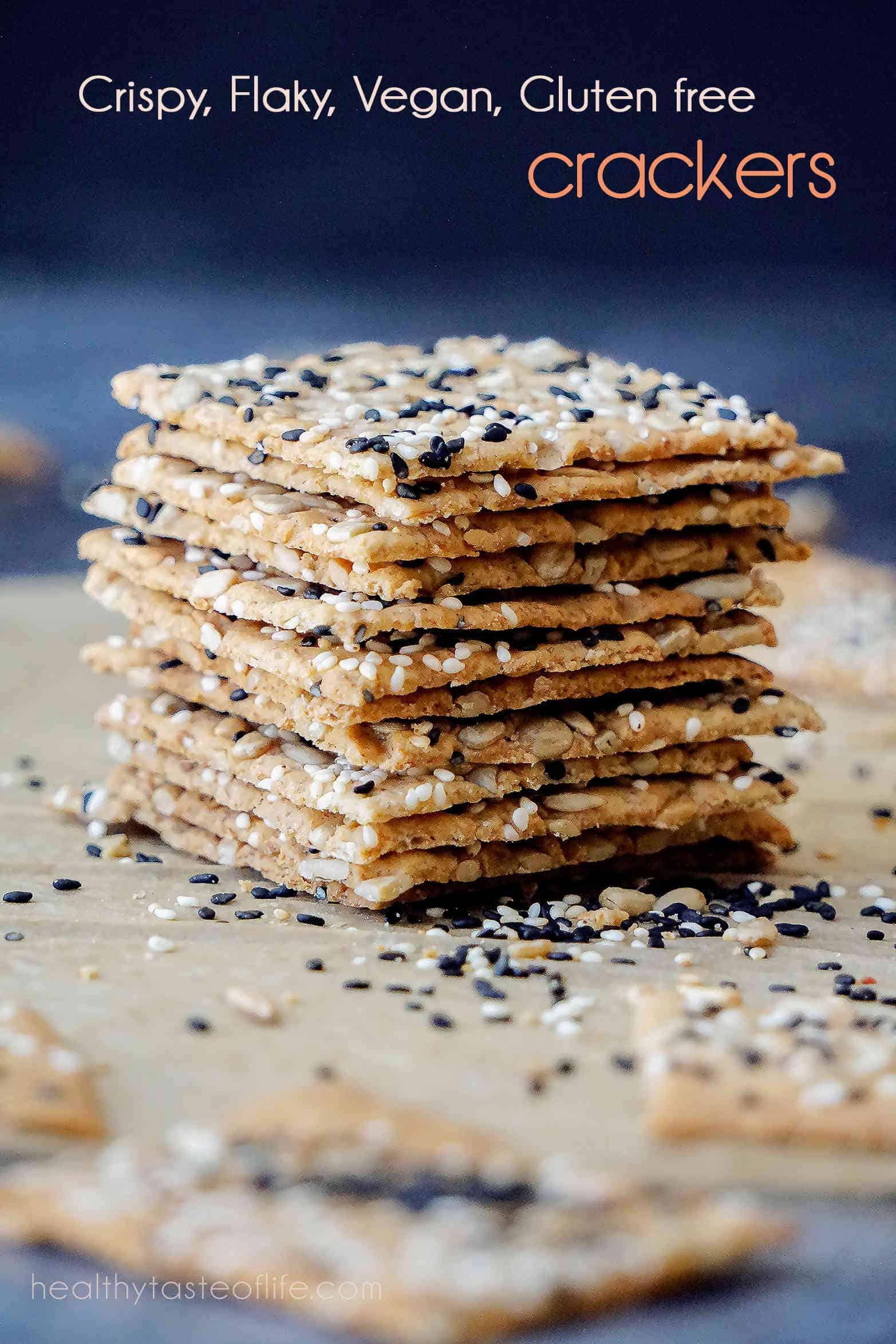 homemade gluten free crackers recipe - vegan, gluten free crackers