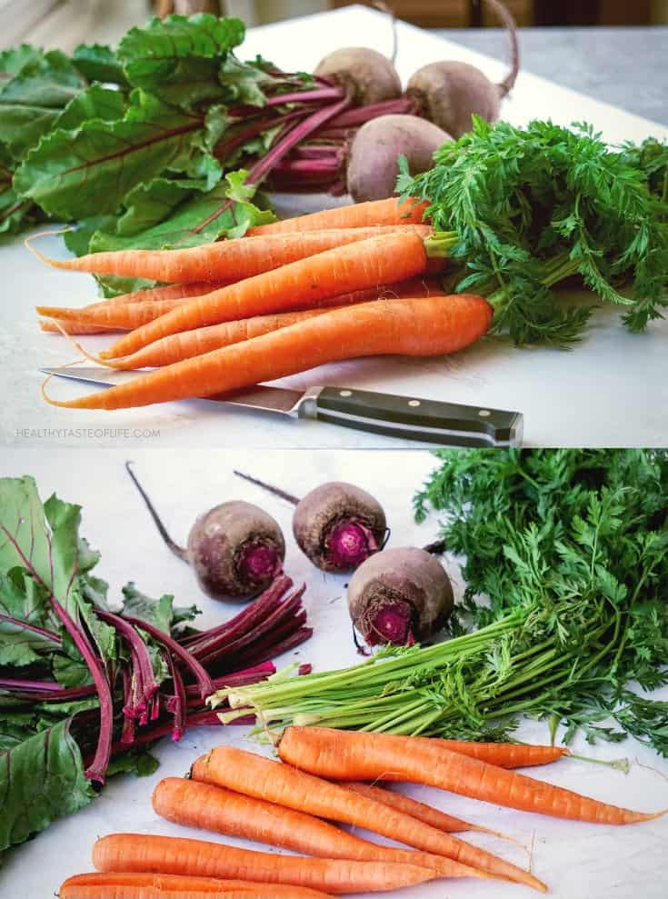 Learn a few meal prep tips for clean eating: how to store and organize fresh produce and cooked food in order to keep it fresh longer. How to store vegetables in the fridge to last longer.