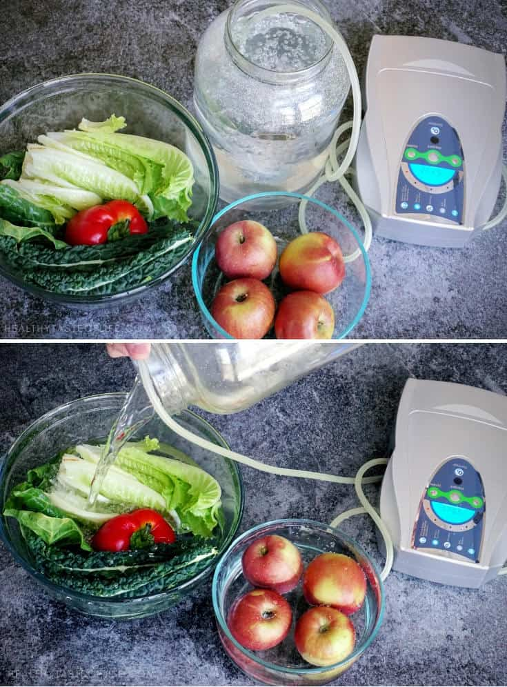 Save time and money with these meal prep tips for clean eating. How to wash produce with ozonated water.