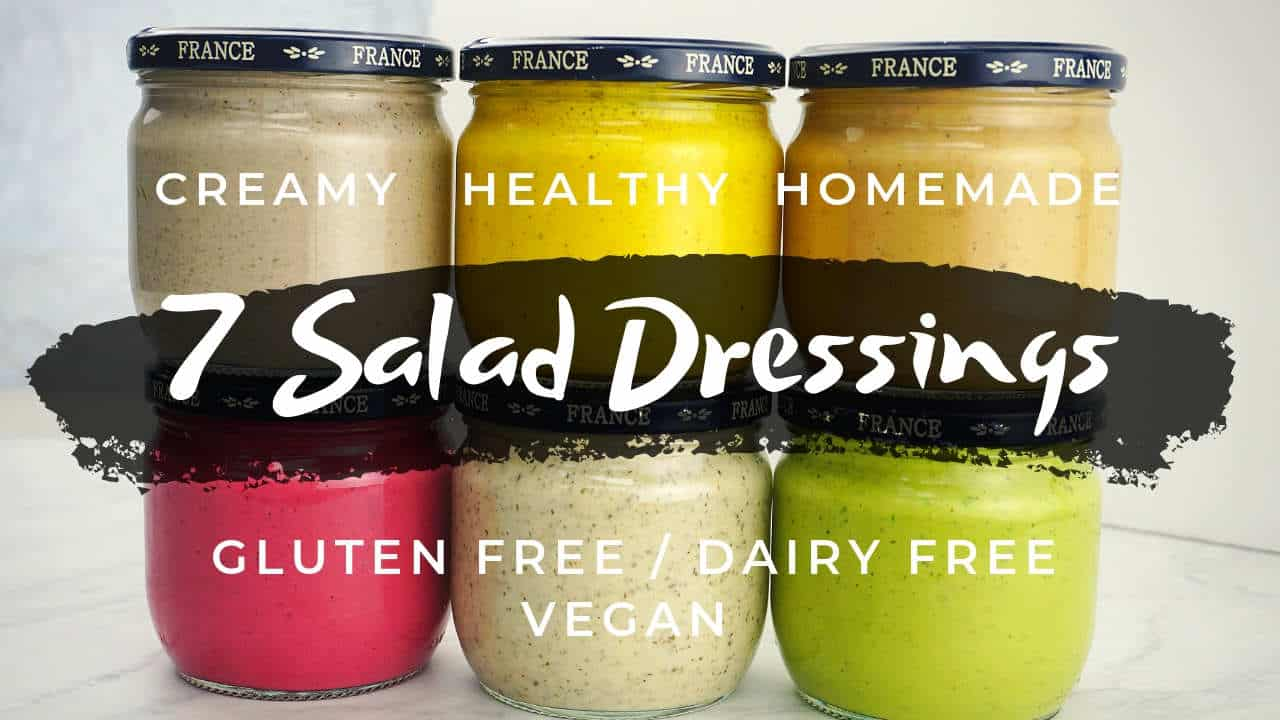 Creamy Homemade Salad Dressing Recipes (healthy, gluten free, dairy free, low carb, vegan, paleo, whole30.