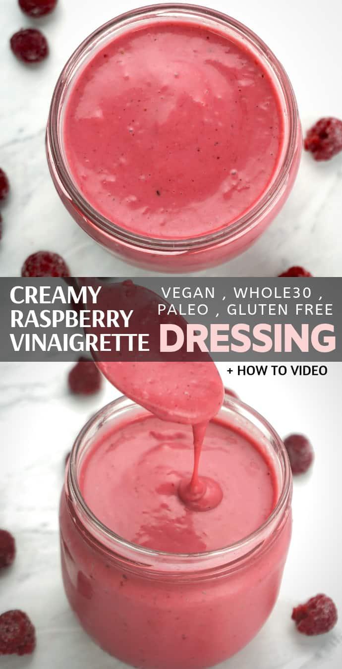 Creamy Raspberry Vinaigrette Salad Dressing Recipe.