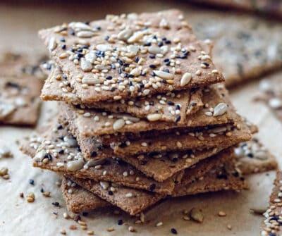 low carb keto crackers recipe
