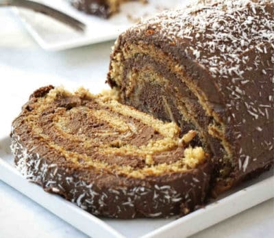 Easy gluten free swiss roll cake roulade