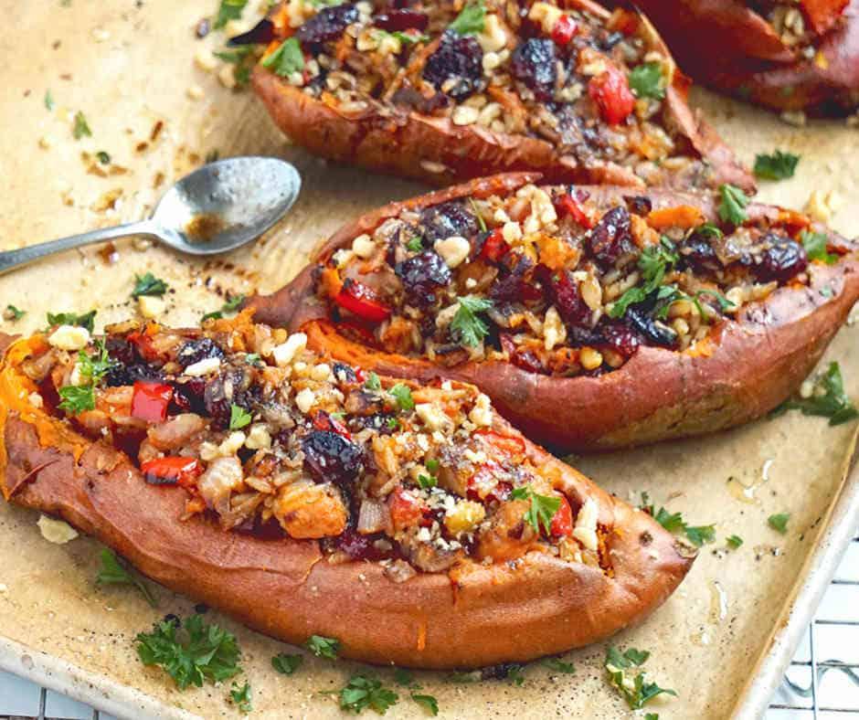 Savory Twice Baked Sweet Potatoes Recipe Vegan Gluten Free