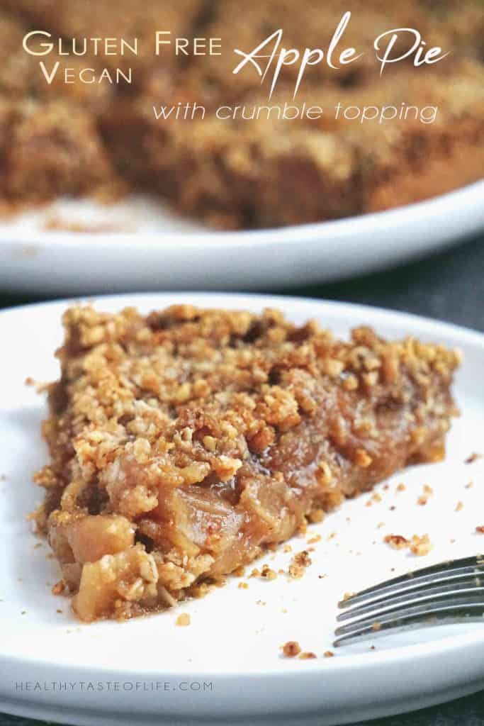 Gluten Free Apple Pie (dairy Free / Vegan) With Crumb Topping