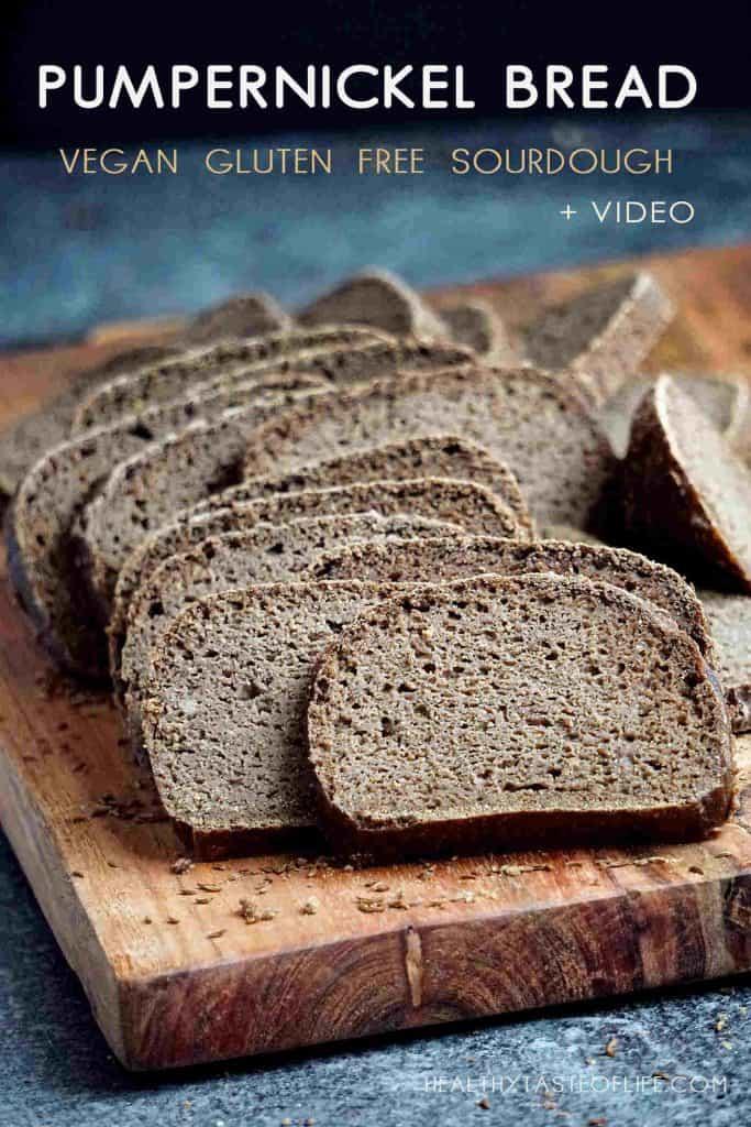 Gluten Free Sourdough Pumpernickel Bread Vegan Healthy