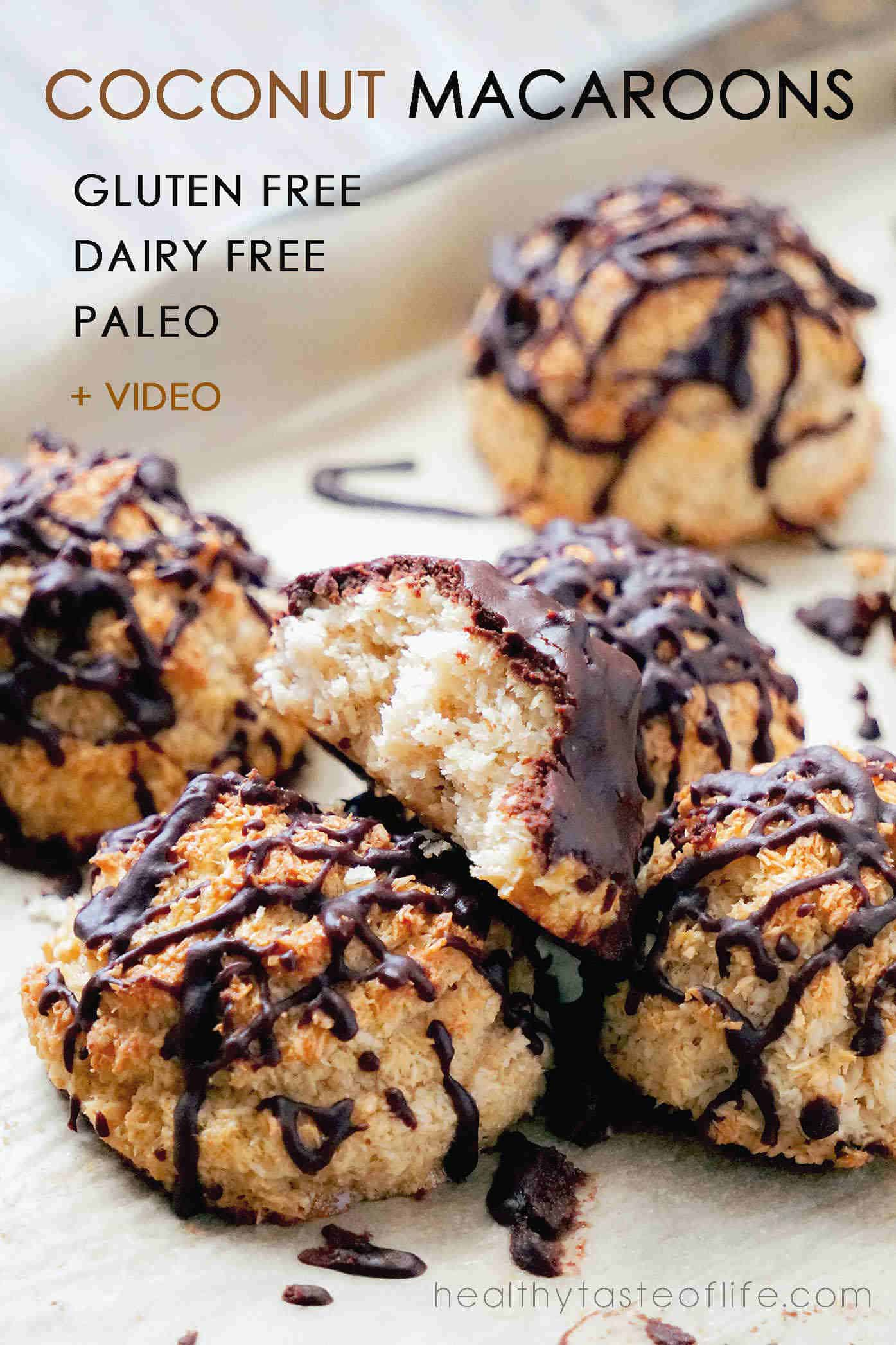 Gluten free dairy free coconut macaroons also refined sugar free and paleo friendly coconut based macaroons.