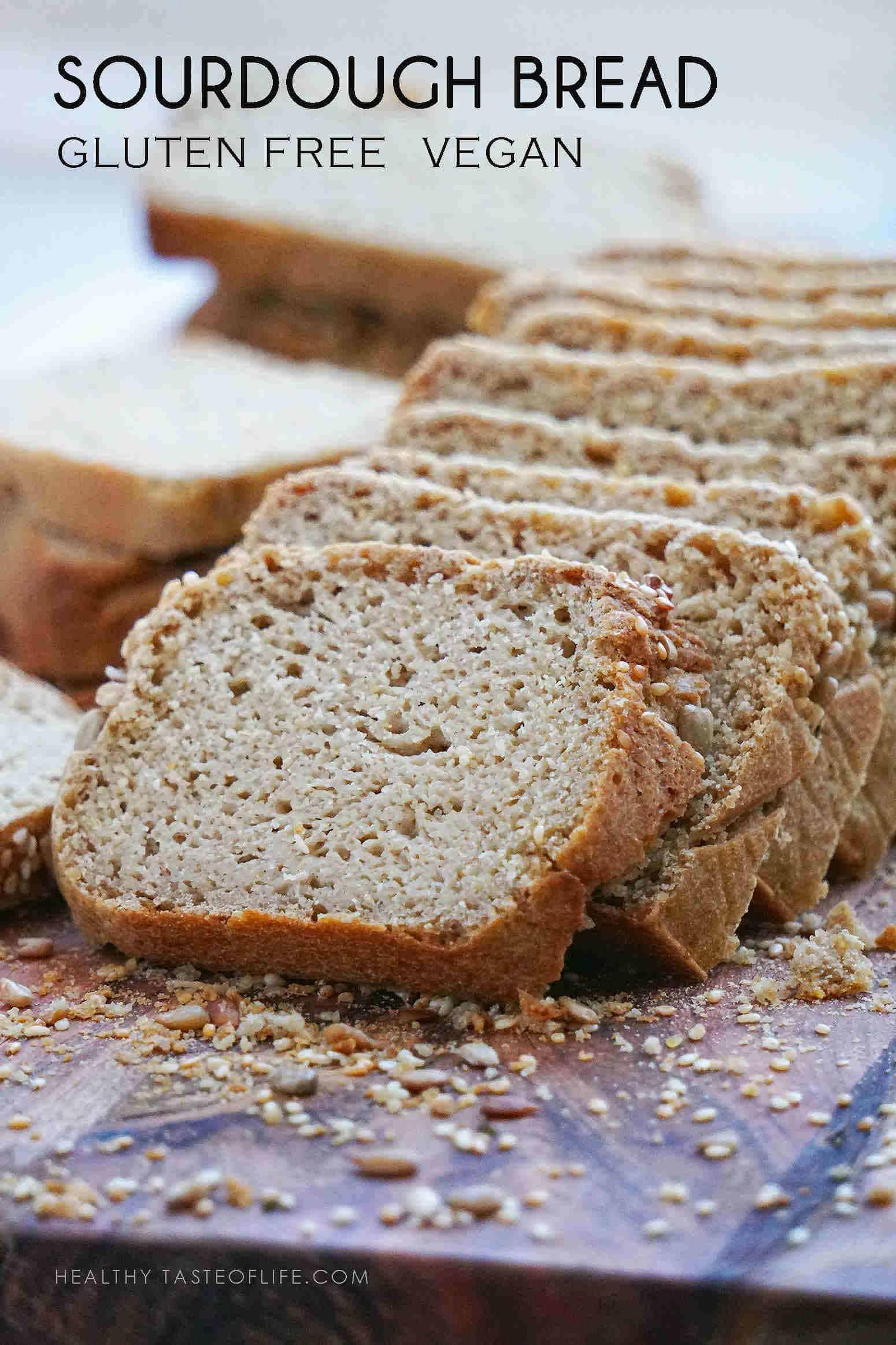 Easy gluten free sourdough bread sliced