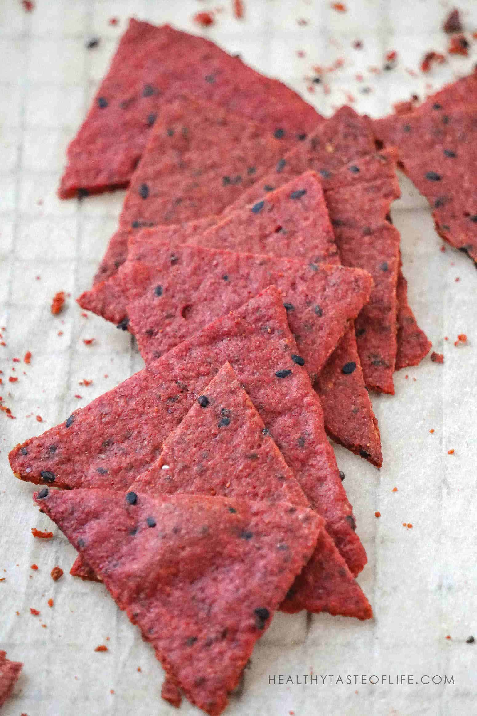 savory crackers made with red beets