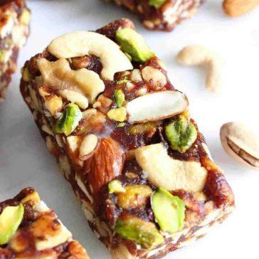 date nut bar gluten free dairy free snack