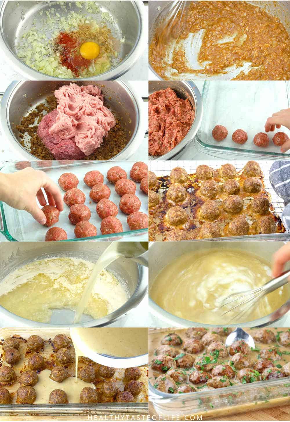 How To Make Gluten Free Swedish Meatballs + Dairy Free Sauce