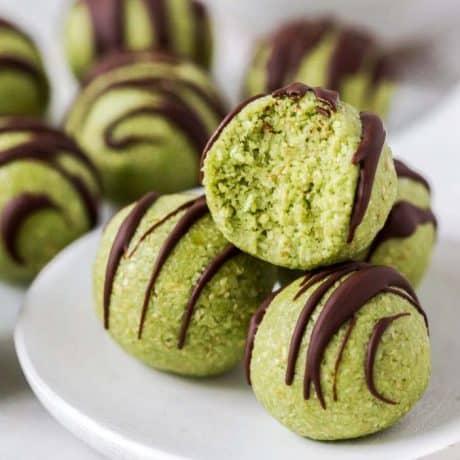 Matcha-Bliss-Balls gluten free dairy free snack