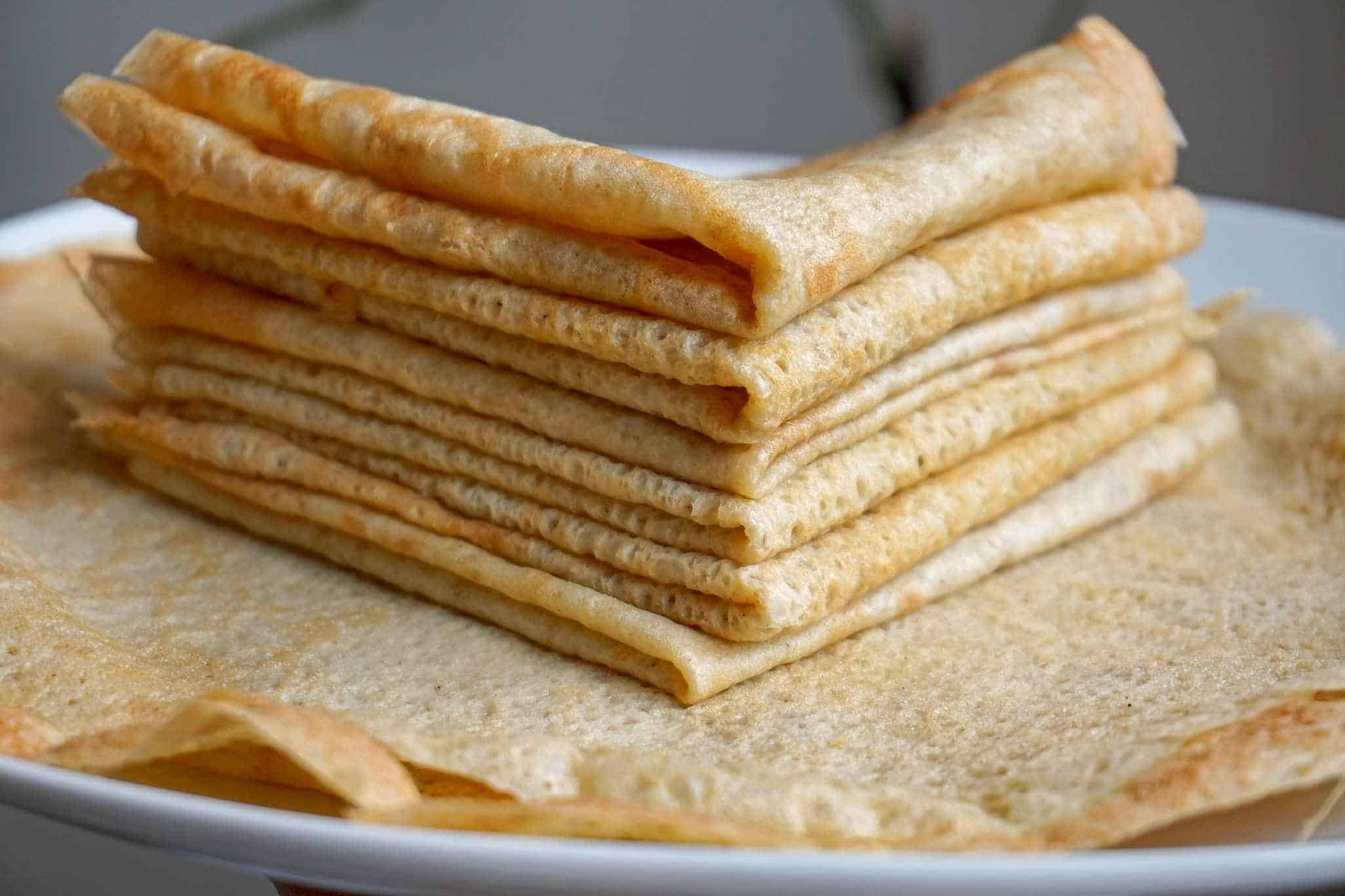 Gluten free crepe recipe - how to make gluten free crepes.