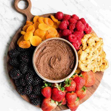 gluten free dairy free snack - chocolate hummus