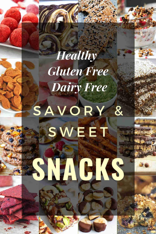 healthy gluten free dairy free snacks ideas recipes