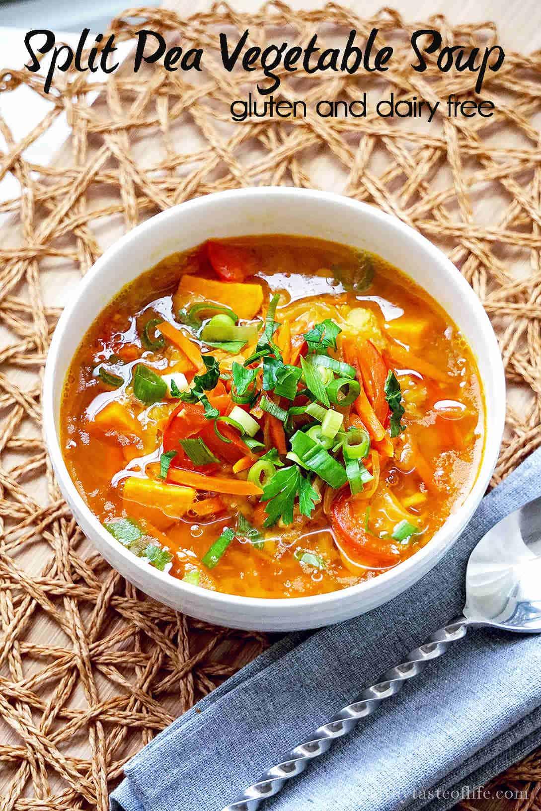 Yellow Split Pea Soup Recipe – Vegan, Dairy Free, Vegetarian, Clean Eating