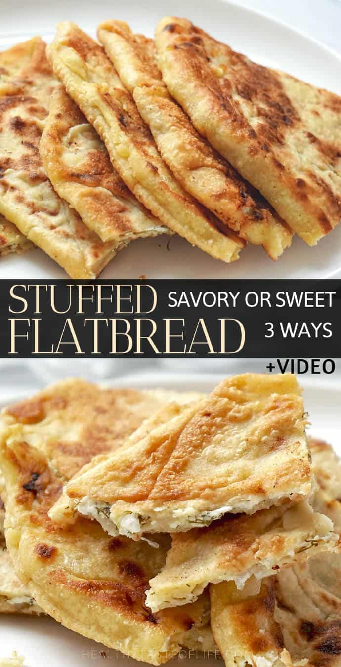 Stuffed flatbread with savory fillings