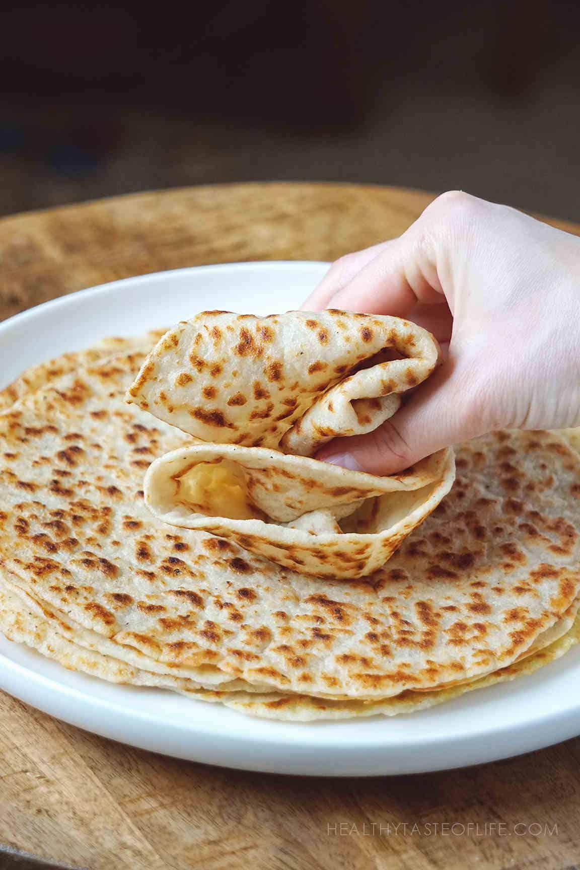 Flexible soft gluten free tortillas recipe