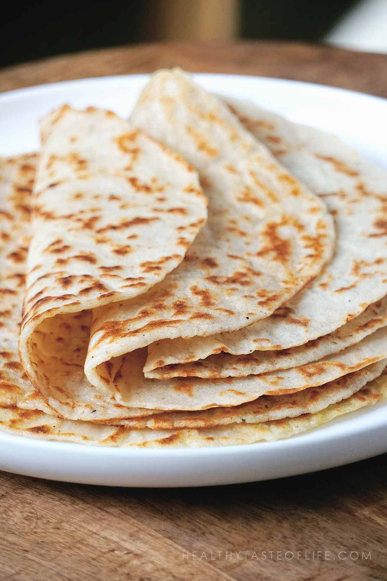 Healthy Vegan Gluten Free Tortillas Wraps