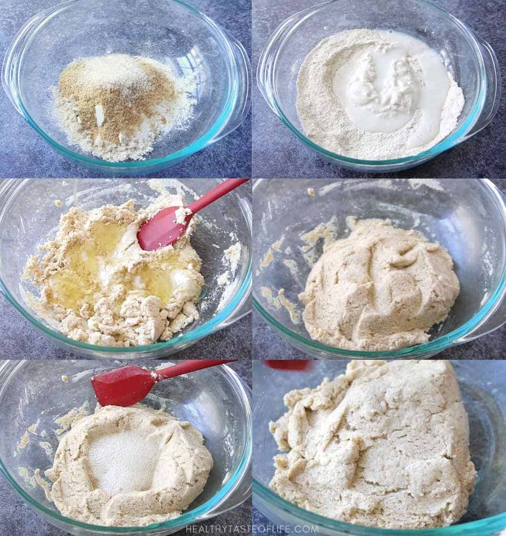 How to make vegan gluten free sourdough crackers: step by step instructions.