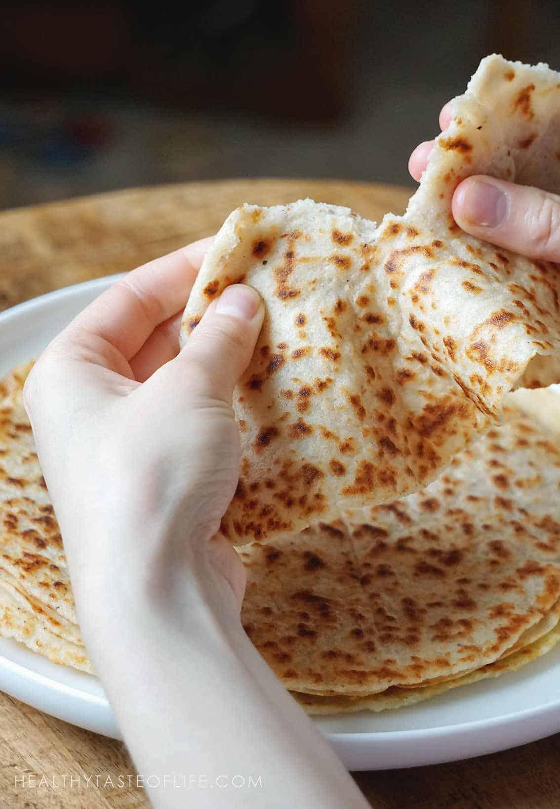 Gluten Free Tortillas Wraps - soft, flexible, thin
