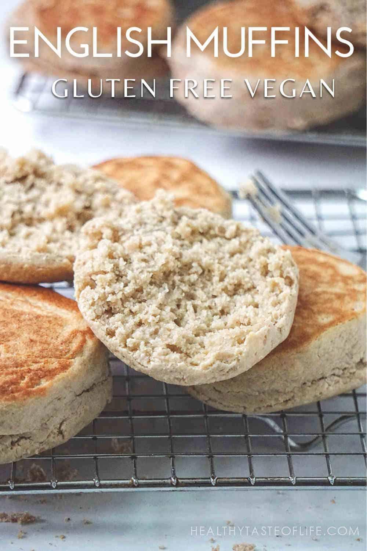 Gluten Free English Muffins Recipe (Vegan Dairy Free)