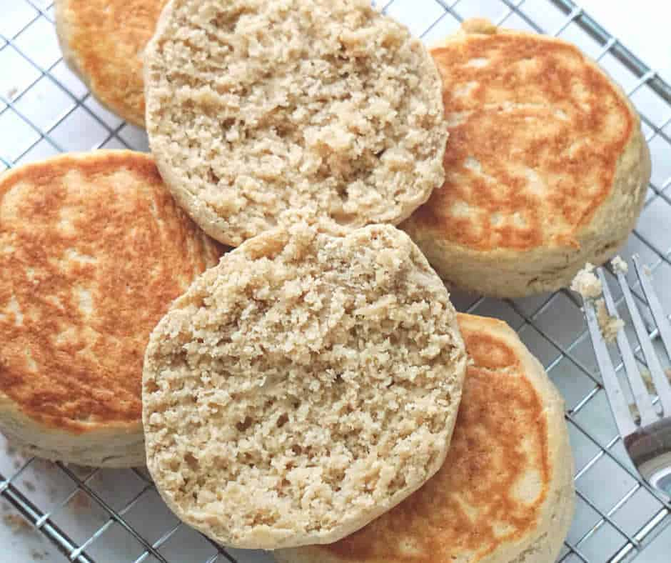 gluten free sourdough English muffins