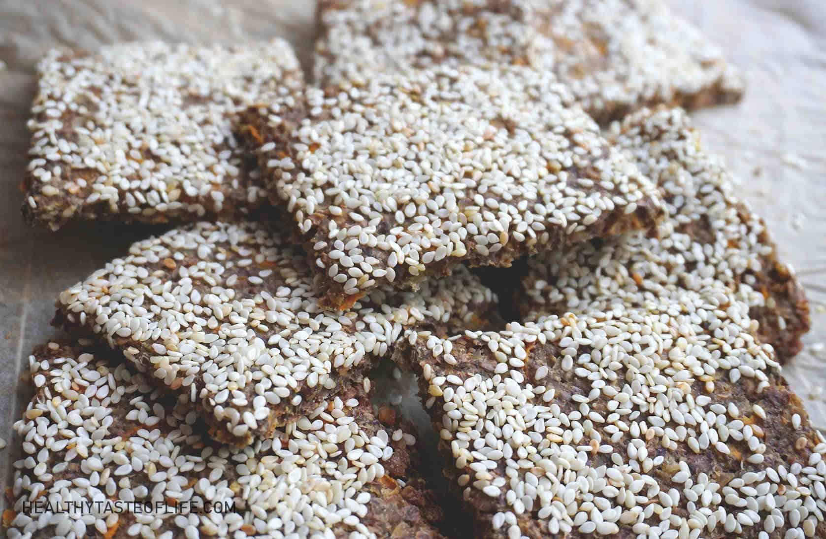 Buckwheat Crackers With Seeds (Vegan Gluten Free Crackers)