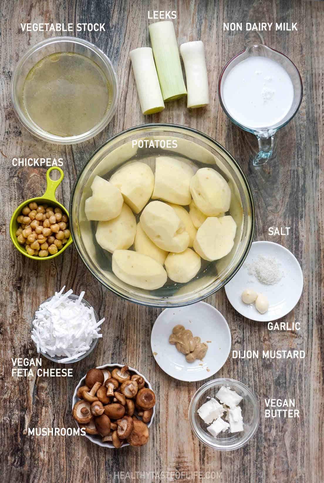 Vegan Potato Bake Ingredients