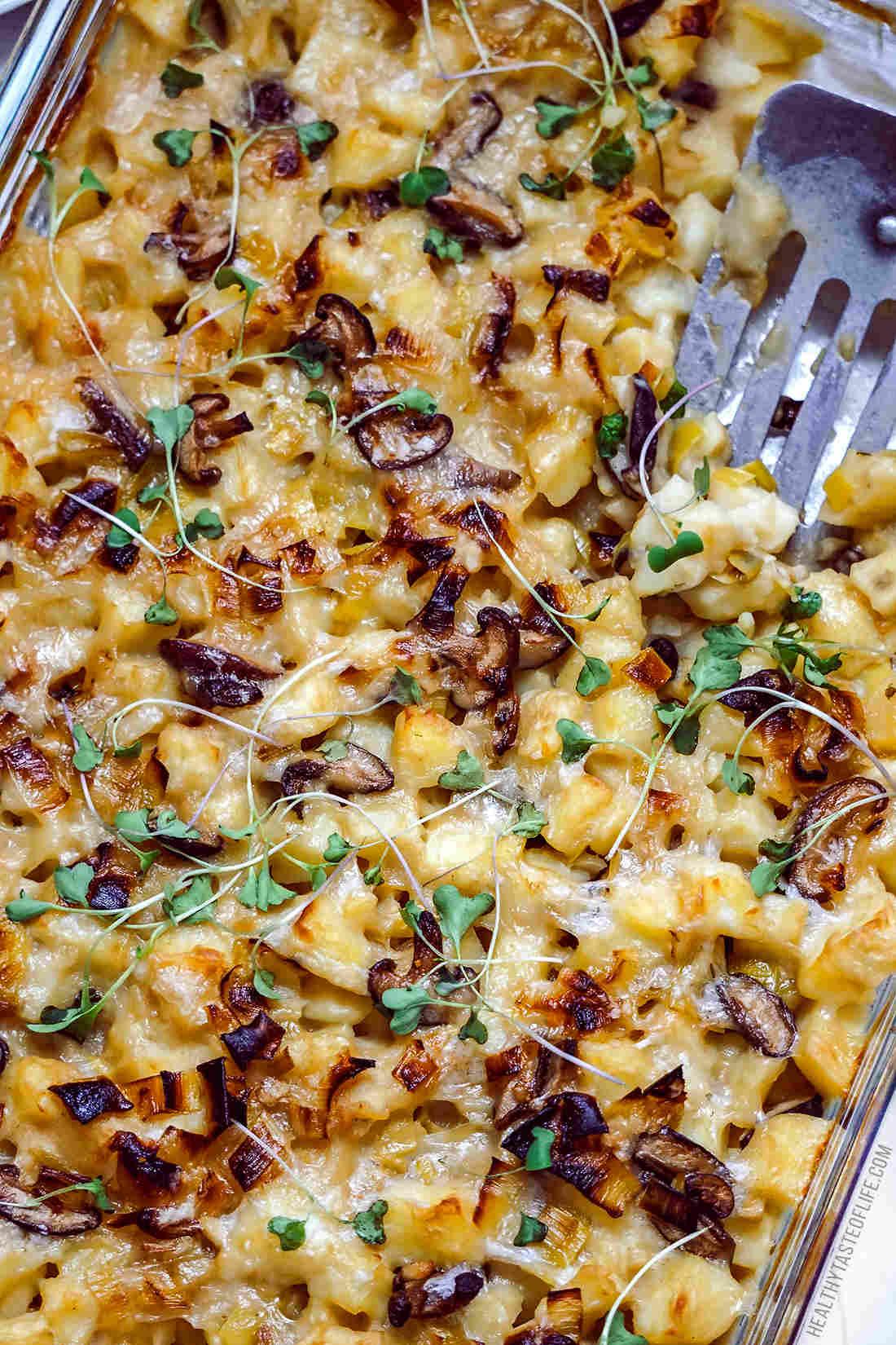 Vegan potato bake, vegan potato recipes in a casserole (gluten free)