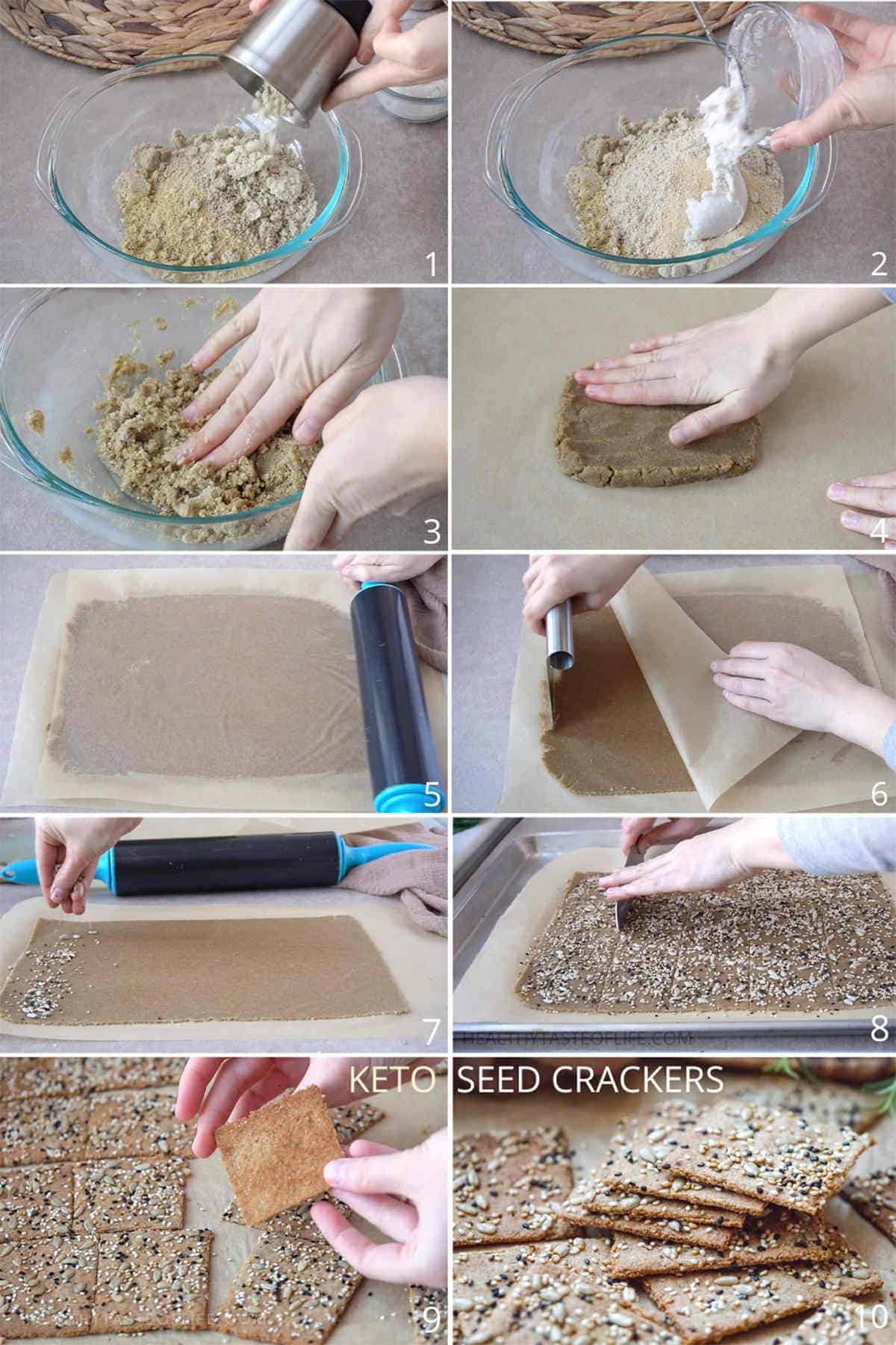 How To Make Keto Crackers. Keto Seed Crackers, Vegan, Low Crab, Nut Free, Gluten Free, Dairy Free, Grain Free Recipe